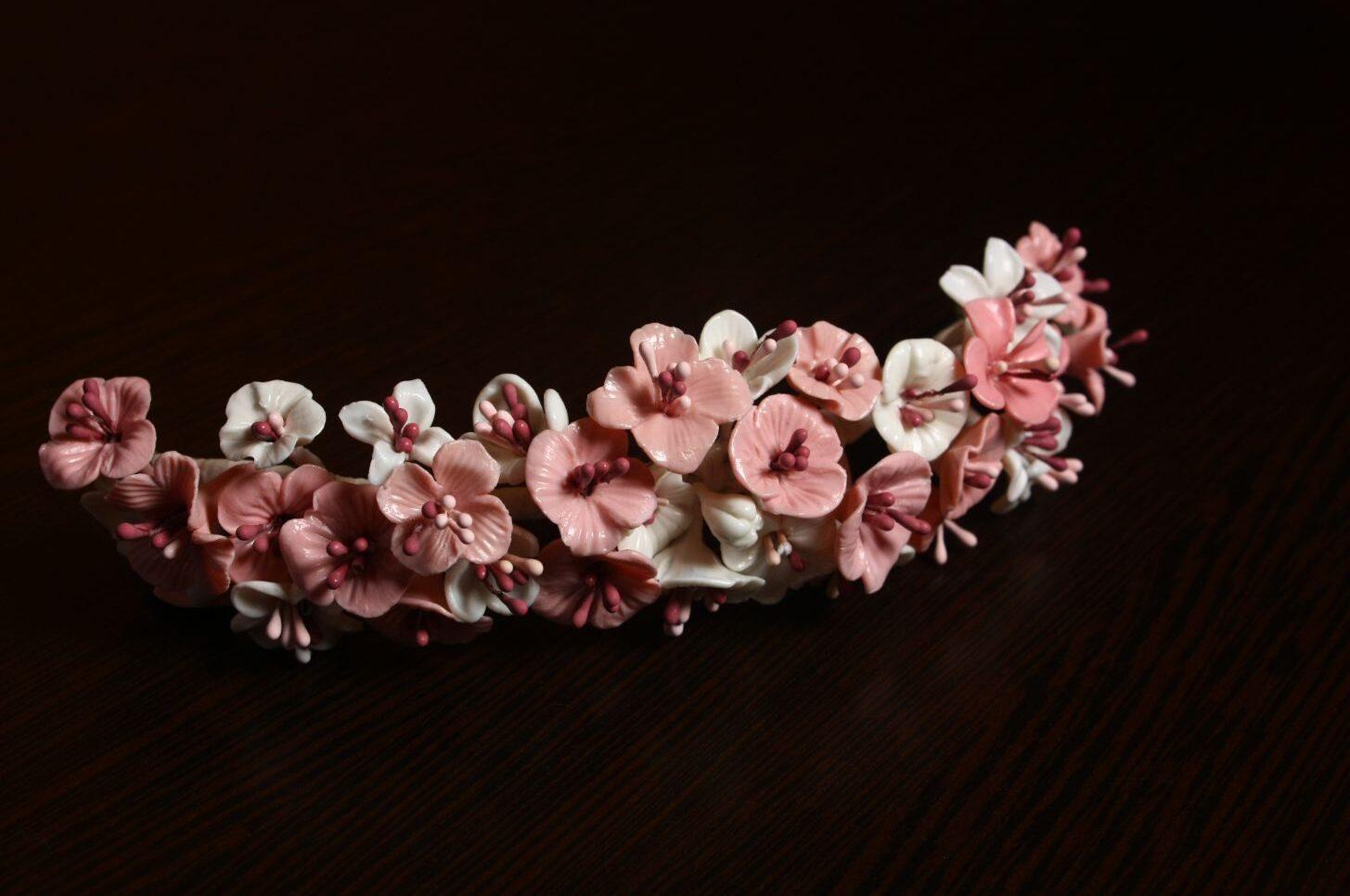 Tocado flor cerezo